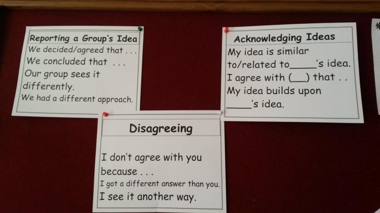 From a sixth grade classroom